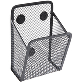 Black Magnetic Metal Mesh Basket