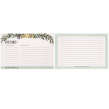 Greenery Recipe Cards