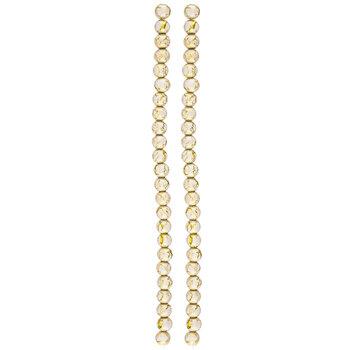 White & Metallic Round Crackle Glass Bead Strands