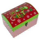 Striped Merry Christmas Gift Trunk