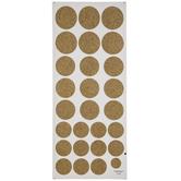 Gold Glitter Dot Stickers