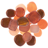 Orange Mosaic Pebbles