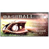 Proverbs 16:3 Baseball Wood Wall Decor