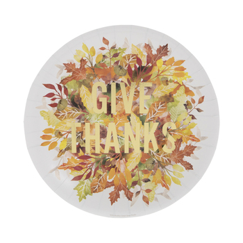 Give Thanks Leaves Paper Plates - Small