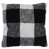 Black & White Buffalo Check Knit Pillow Cover