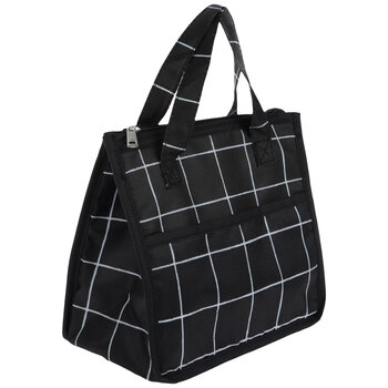 Black & White Plaid Lunchbox