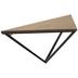 Brown & Black Triangle Wood Shelf