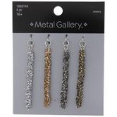 Metallic Long Crystal Rock Pendants