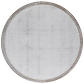 Round Whitewash Wood Wall Decor