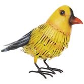 Yellow & Black Metal Bird