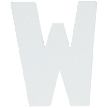 """White Wood Letters W - 2"""""""