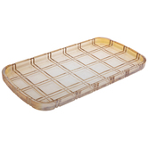 Amber Grid Glass Tray
