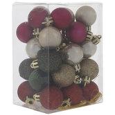 Mini Metallic & Glitter Ornaments