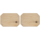 "Clipped Corner Rectangle Wood Plaques - 5"" x 7"""