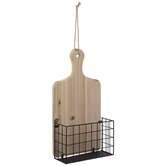Charcuterie Board Wood Wall Basket