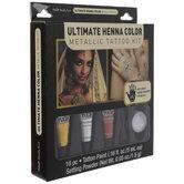 Metallic Henna Tattoo Kit