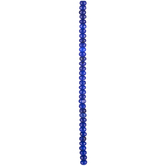 Blue Dyed Jade Rondelle Bead Strand