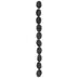 Black Lava Stone Bead Strand