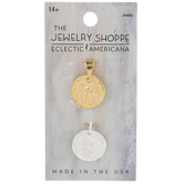 10K Gold & Sterling Silver Plated Coin Charms