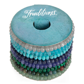 Blues & Greens Stone Rondelle Bracelet Spool