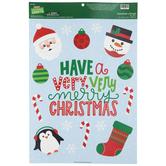Very Merry Christmas Window Clings