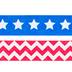 Red, White & Blue Stars & Chevron Washi Tape