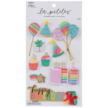 Happy Birthday Cake 3D Stickers