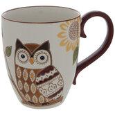 Brown & Orange Owl Mug