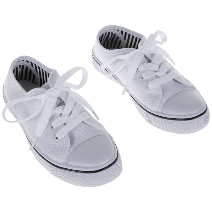White Canvas Youth Sneakers - Size 2/3