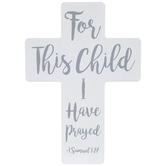 1 Samuel 1:27 Wood Wall Cross