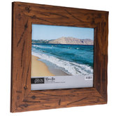 """Distressed & Nailed Wood Photo Frame - 10"""" x 8"""""""