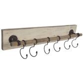 Wood Rod Wall Decor With Hooks