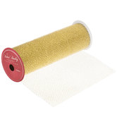 Metallic Mesh Wired Edge Ribbon - 10""