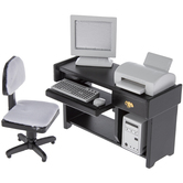 Miniature Office Computer & Furniture