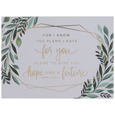 Jeremiah 29:11 The Plans I Have Leaves Wood Decor