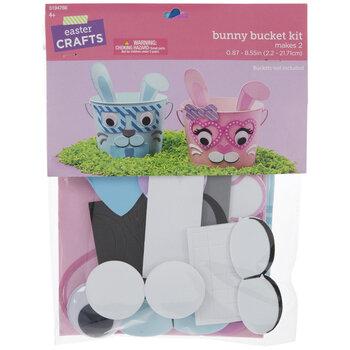 Bunny Faces Bucket Foam Craft Kit