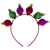 Red, Pink & Green Ornament Headband
