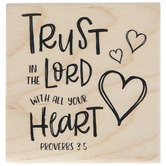 Proverbs 3:5 Rubber Stamp