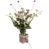 Wild Flowers In Glass Jar