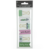 Cactus Binder Clips & Magnetic Bookmarks
