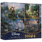 Thomas Kinkade 4-In-1 Classic Disney Puzzles
