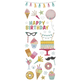Happy Birthday Glitter Stickers