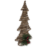 Vine & Jute Christmas Tree - 24""
