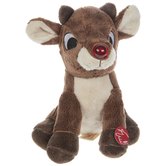 Singing Plush Rudolph The Red-Nosed Reindeer