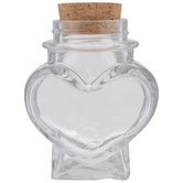Heart Glass Jar