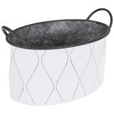 White Diamond Metal Container