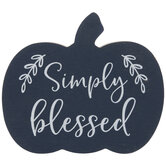 Simply Blessed Wood Pumpkin