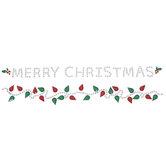 Merry Christmas & Lights Rhinestone Stickers