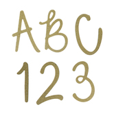 Gold Glitter Calligraphy Alphabet Stickers