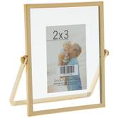 """Gold Hinge Metal Float Frame - 2"""" x 3"""""""